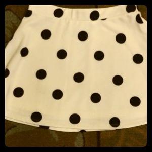 White polka dot skirt